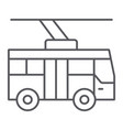 trolleybus thin line icon transportation and vector image vector image
