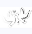 two bird with love vector image