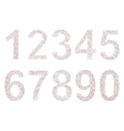 Varicolored numbers vector image vector image