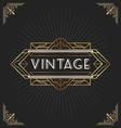 Vintage art deco frame for decorative design vector image