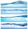 wave realistic nature ocean water splashes liquid vector image vector image
