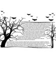 dead tree without leaves and text frame vector image