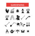 gardening thin line icons linear vector image