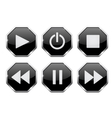 Player icons Web buttons vector image