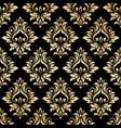 luxury golden damask wallpaper vector image