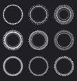 Set of round wreaths frames Hand Drawn wedding or vector image