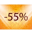 55 percent discount icon symbol Flat modern web vector image vector image