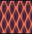 abstract pattern living coral and black colors vector image