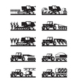 agricultural machinery in field vector image