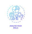 analyse your skills concept icon