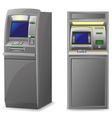 atm isolated on white background vector image vector image