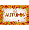 autumn with falling leaves vector image vector image