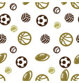 ball pattern seamless isolated vector image