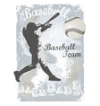 base ball grunge 4 vector image vector image