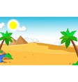 beautiful view of tree cartoon with desert vector image vector image