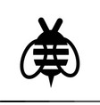 bee icon design vector image