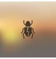 beetle icon on blurred background vector image