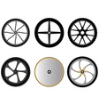 bicycle wheels without spokes vector image vector image