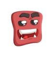 Brown Sweet Talking Emoji Cartoon Square Funny vector image