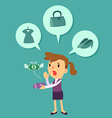 business woman run out of money vector image