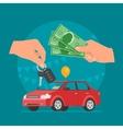 Car sale Customer buying car vector image