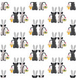 cats in rabbit ears seamless pattern vector image vector image