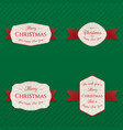 christmas banners labels or tags collection vector image