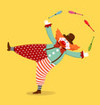 clown juggling with clubs vector image vector image