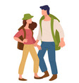 couple traveling together man and woman vector image vector image