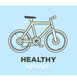 creative sport bicycle with text on blue vector image vector image