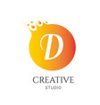 d letter logo design d icon colorful and modern vector image vector image