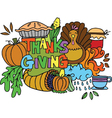 Element thanksgiving of doodle art vector image