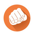fist symbol vector image vector image