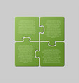 four jigsaw puzzle square diagram info graphic vector image vector image