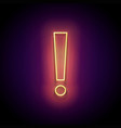 glow exclamation mark attention warning sign vector image