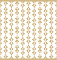 gold and white geometric seamless pattern vector image vector image