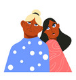 grandmother and grandchild daughter together vector image