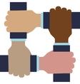 Grop of human hand icon Gesture design vector image vector image