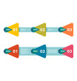infographic arrows with 3 vector image vector image