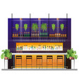 interior scene of modern pub with bar counter vector image vector image