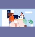 job interview female seekers hr manager and vector image vector image