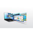 Laptop with of template website vector image vector image