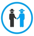 Man Acquisition Circled Icon vector image vector image