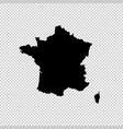 map france isolated black on vector image