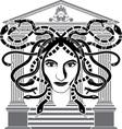 medusa gorgona temple vector image vector image