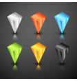 metallic infographics 3d pointer vector image