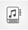 music book icon sign symbol vector image vector image