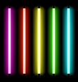 neon tube light vector image vector image