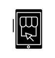 online shop black icon concept vector image vector image