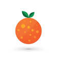 orange fruit logo design simple icon vector image